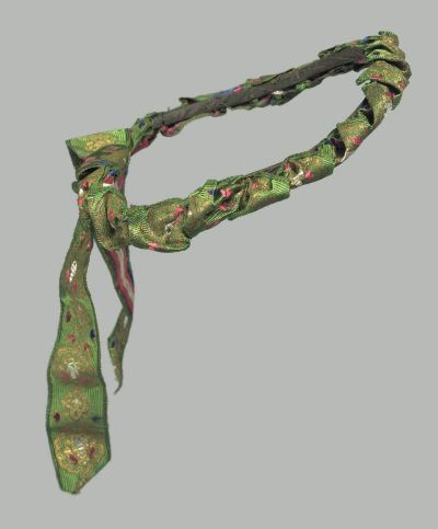 Simple ribbon headdress (French-made), MFA Boston, mid-1800s