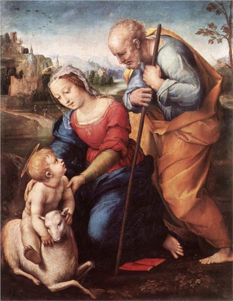 Raphael, The Holy Family with a Lamb, 1507.