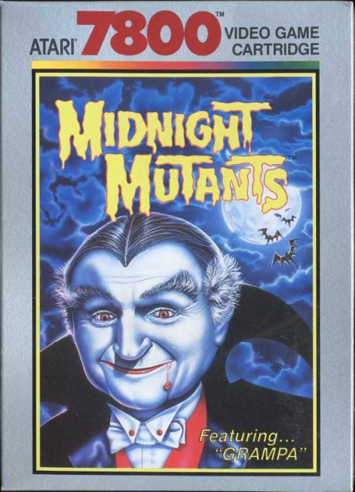 "vgjunk:  Midnight Mutants for the Atari 7800, a game which features Grandpa from The Munsters… and no other mention of The Munsters at all.  ""Grampa"" is generic enough for them to cash in without paying for a license, the sneaks!"