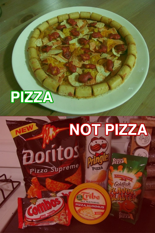 Pizza Made from Pizza Snacks