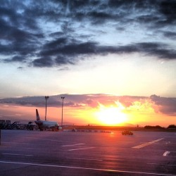 Sunset at Budapest Airport (Taken with Instagram at Budapest Liszt Ferenc International Airport (BUD))
