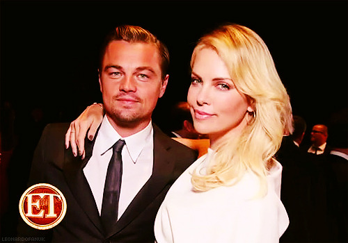 Leo & Charlize Theron at the Paramount 100th Anniversary photoshoot
