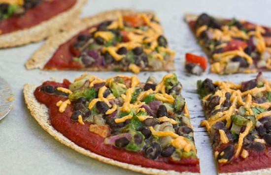 scrumptious—bites:  Vegan High Protein Tortilla Pizzas   Recipe