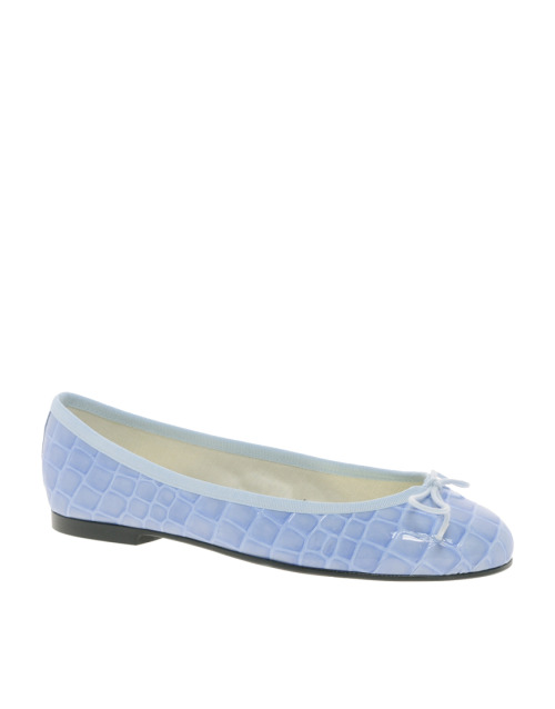 French Sole Henrietta Pedraza Blue Croco Ballet ShoesMore photos & another fashion brands: bit.ly/JgOrPK