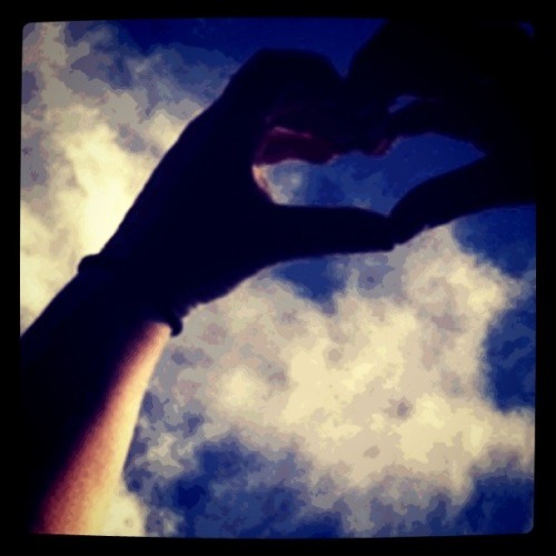 #heart #sky #love #hands #friendship #friends