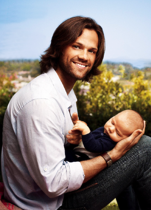 "Padalecki–who describes himself as ""a pretty good diaper-changer""–most looking forward to? ""Honestly? Everything,"" he says. ""I was a very active kid, so I can't wait to ride bikes with him and teach him to swim and ski and throw a football.""Jared and Thomas Colton Padalecki in People Magazine"