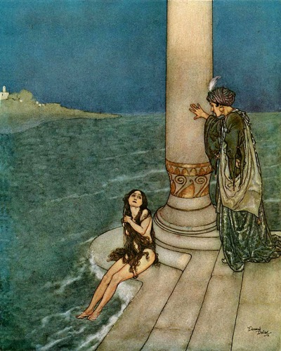 psychesdescent:  Edmund Dulac, The Mermaid and the Prince
