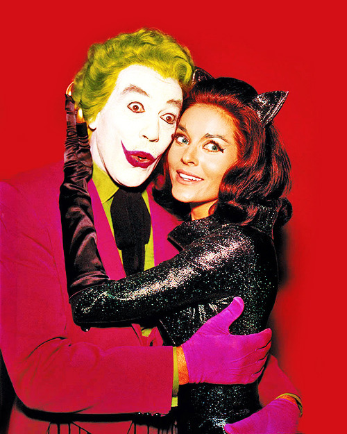 Cesar Romero and Lee Meriwether in Batman (1966)