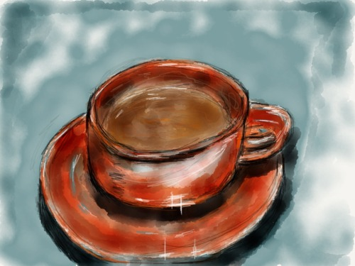 Cup and Saucer sketch by Anastasia Made with Paper