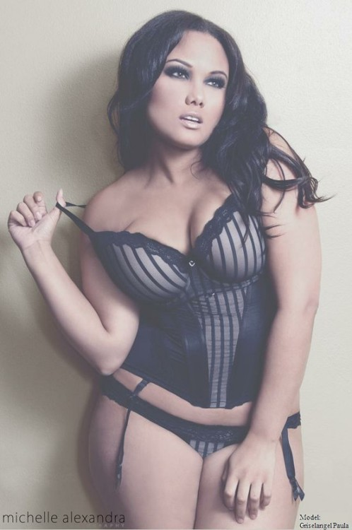 Griselangel Paula - plus size model  Absolutely stunning! Who says thick isn't sexy?