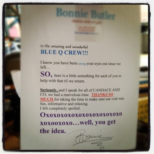 A bit of love from Bonnie (Taken with Instagram at Blue q)