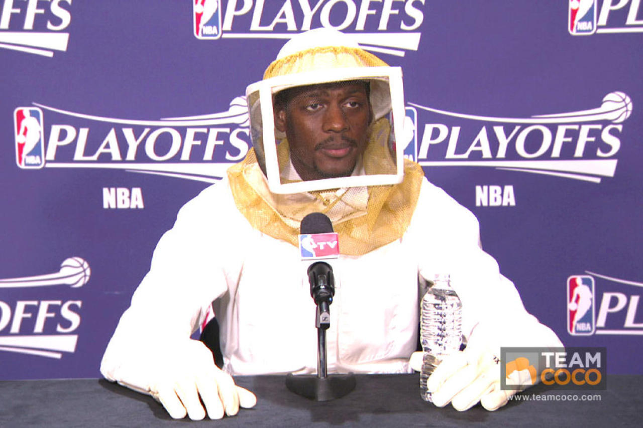 This NBA player does a little beekeeping on the side. [more NBA fashion]