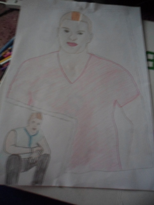 My drawing of Mr Mark Salling as Noah 'Puck' Puckerman!