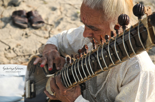 ~ Sitar Music ~   |   Image taken at sunrise across the Ganges River in Banaras, India.