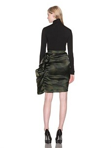 Christian Siriano Orchid Print Organza Side Ruffle Skirt in Black Orchid Print. This. Is. LOVE. *deeeeeeeep sigh*