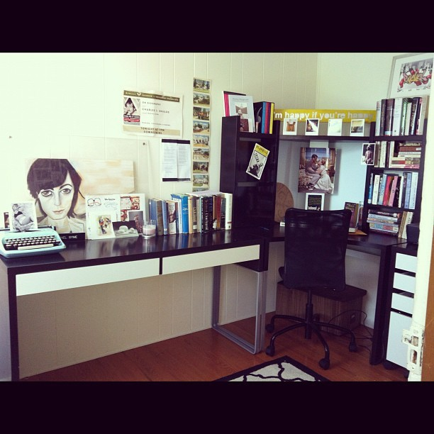 My office at home. Where the magic supposedly happens…I guess the last time I put a pen in there it did disappear.