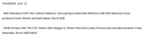 Nikita is going to the San Diego Comic Con again! from spoilertv