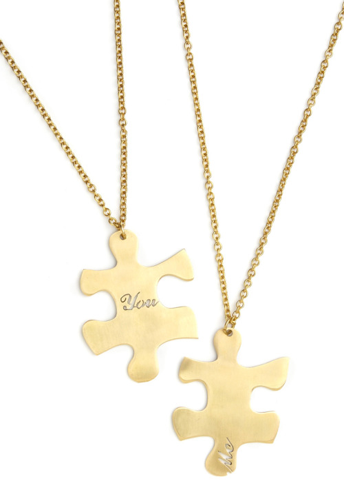 Give your BFF a piece of happiness with one of the We Fit Together Necklaces.