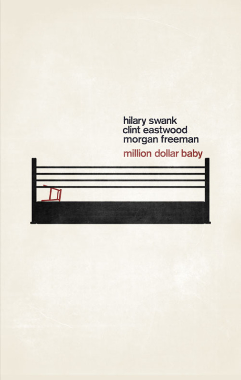 minimalmovieposters:  Million Dollar Baby by Maria Kaner