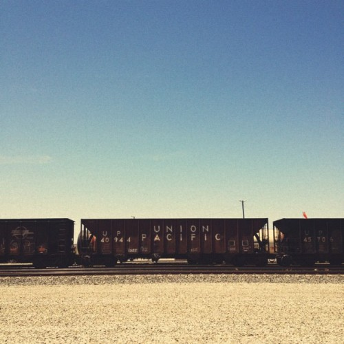 Union Pacific #vscocam #train #sky (Taken with Instagram)