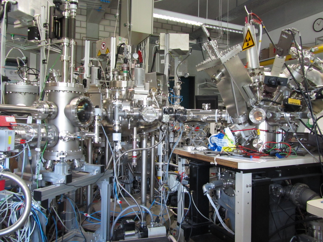 Just a vacuum and an electron spectroscope… I had one of the containment modules in pieces the other day… err. I guess I was assisting a supervisor with taking it apart..
