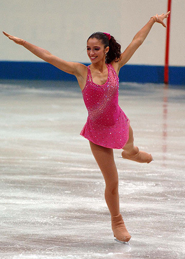 Stefania Berton's long program dress at the 2006 Junior Grand Prix Final. Photo by Barry Mittan.