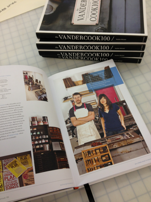 The Vandercook 100 book is here! We're thrilled to be included with so many other Vandy lovers. Thanks to Heather Mitchell at Just Vandy for creating such a beautiful book.