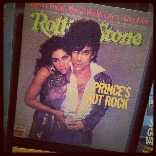 Happy 54th birthday #Prince! Here he is posing with Vanity on the April 28, 1983 cover of #RollingStone. See where his iconic album '1999' landed on our 500 Greatest Albums of All Time list. (Taken with Instagram)
