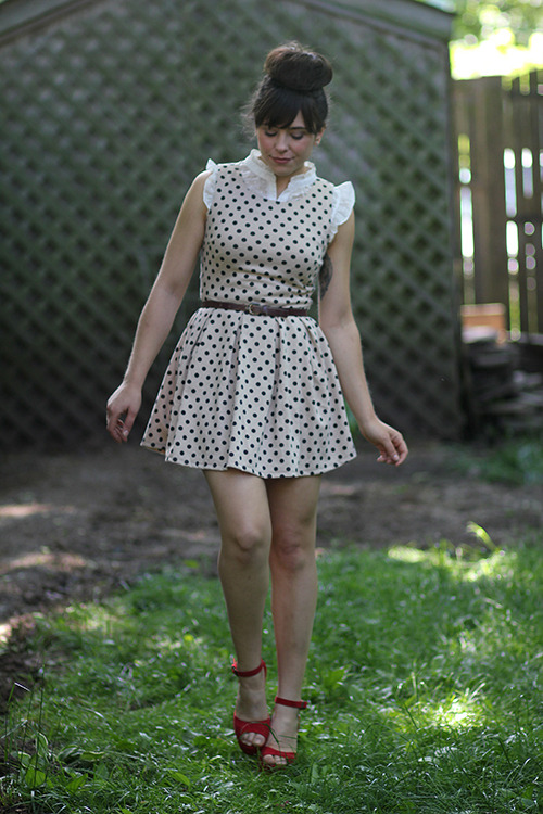 I love this adorable polka dotted look from Tick Tock Vintage! What print are you most excited to wear this summer? <3 Jess, ModStylist Need styling suggestions, trend tips, or dress details? Ask a ModStylist and your question might be featured on our feed!