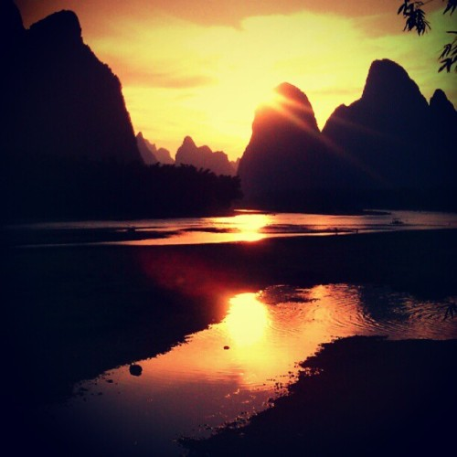 When the sun goes down… #sun #landscapes #travel (Tomada con Instagram)