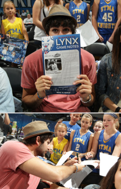 One of the Lynx' biggest fans has some fans of his own. (Photo by David Sherman)