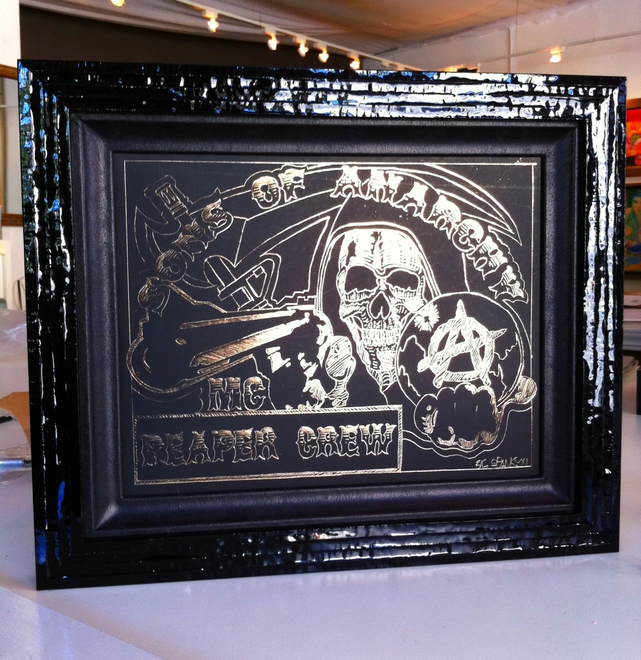 leather and lacquer for Sons of Anarchy set…