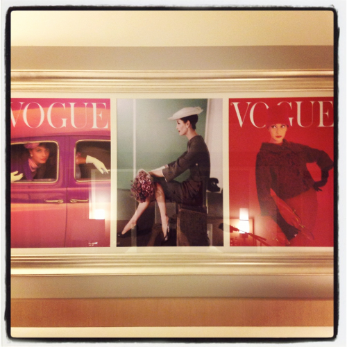 I love the vintage Vogue covers at the Vogue Hotel in Montreal - my home away from home. :)