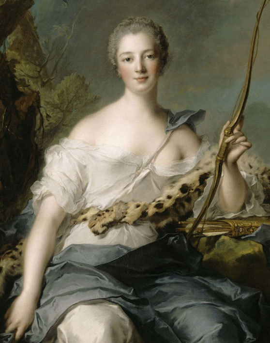 Portrait of Jeanne-Antoinette Poisson, marquise de Pompadour by Jean-Marc Nattier, 1746