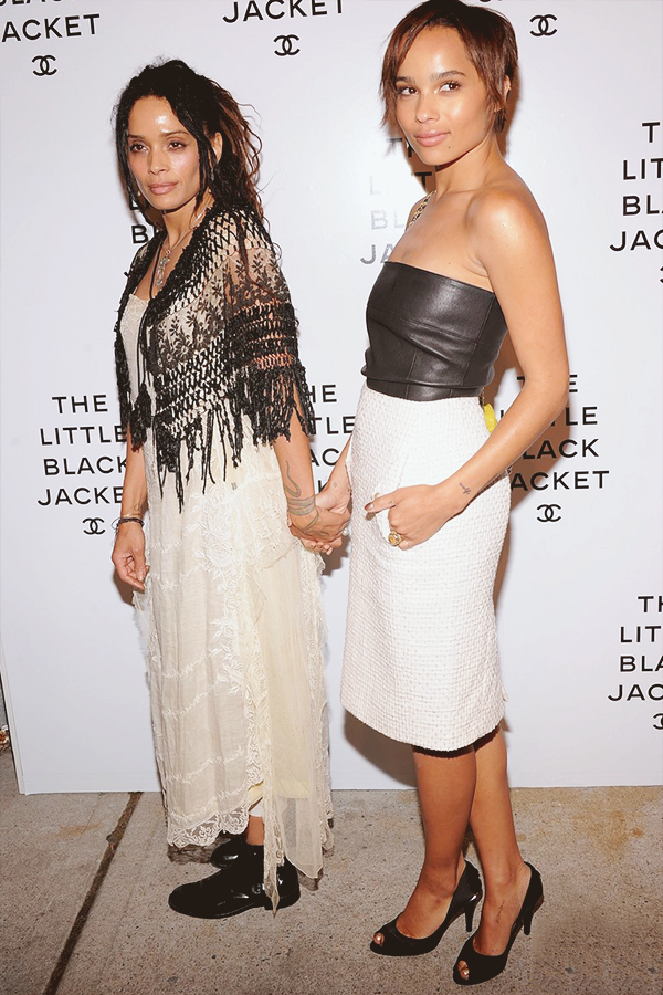fuckyeahfamousblackgirls:  Zoe Kravitz & her mom Lisa Bonet at The Little Black Jacket event in NYC