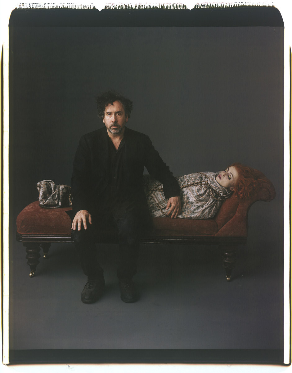 bohemea:  Tim Burton & Helena Bonham Carter by Mark Ellen Mark, 2012