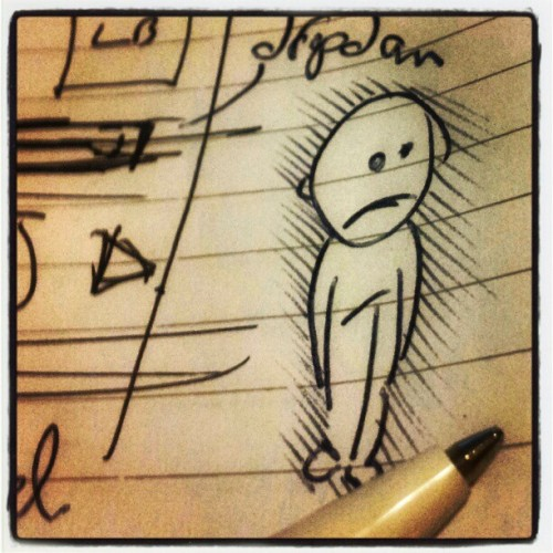 #bored #illustration #penandink  (Taken with Instagram)