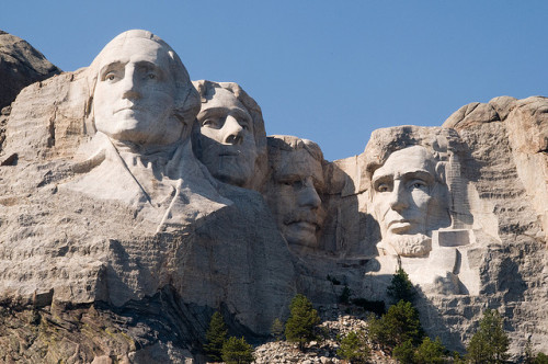 What was the motivation to build Mount Rushmore? __ To increase tourism__ As a gift for Native Americans__ It was George Washington's dying wish__ To highlight America's granite production (Photo by Sebastian Bergman, Flickr)