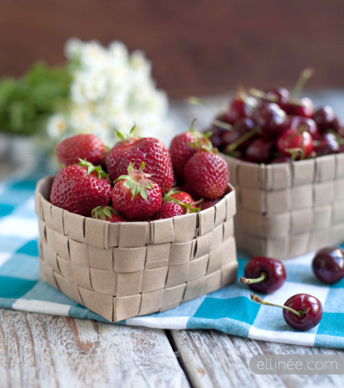 dontkillthedream:  DIY Fruit Basket(via Ellinée)