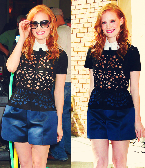 "Jessica Chastain Arrives at ""Live With Kelly"" - June 7th, 2012"