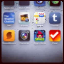Oh Google Maps on iPhone…your days are numbered! #ios6 #apple #imaps (Taken with Instagram)
