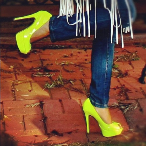 Touch of Neon! #shoes #shoelover #fashion  (Taken with Instagram)