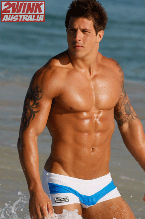 British fitness and underwear model Lee Stram recently took to the surf of Australia's western shores to shoot 2wink's newest swimwear range, AUS12.  Stram, who's modeled for several of the brand's newest collections, looks equally at home in their swimwear as he does in their underwear. http://www.underwearexpert.com/2012/03/lee-stram-for-new-2wink-swimwear-range/