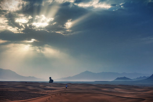 Sahara Sunrise by TheFella on Flickr.