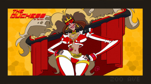 "jpolgar1:  So I finally did some motorcity fan-art.  It's the Duchess of Detroit.  The imaginary female version of the Duke himself.  Meet the real ""Duke"" of Detroit tonight on Disney XD!   the duchess by the amazing and talented MC animator Jeremy Polgar! I love his take on the genderbent Duke! Check out his artz! HE'S AWESOME!   AND REMEMBER TO WATCH MOTORCITY TONIGHT!!"
