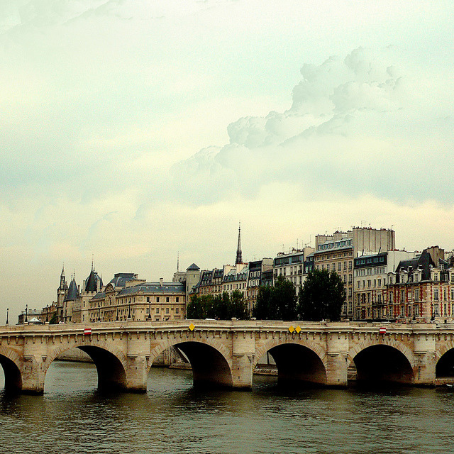 | ♕ |  Pont Neuf towards Ile-de-la-Cite - Paris  | by © Louise LeGresley