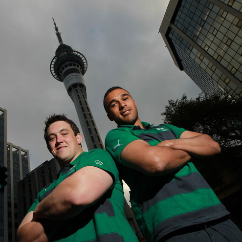 Ireland team to play New Zealand - Eden Park, Saturday, K.O. 8.35am(Irish time)  Backs: 15 - Rob Kearney (Leinster)14 - Fergus McFadden (Leinster)13 - Brian O'Driscoll (Leinster) (capt)12 - Keith Earls (Munster)11 - Simon Zebo (Munster) *10 - Jonathan Sexton (Leinster)9 - Conor Murray (Munster) Forwards: 1 - Cian Healy (Leinster)2 - Rory Best (Ulster)3 - Declan Fitzpatrick (Ulster) *4 - Dan Tuohy (Ulster)5 - Donnacha Ryan (Munster)6 - Peter O'Mahony (Munster)7 - Sean O'Brien (Leinster)8 - Jamie Heaslip (Leinster) Replacements: 16 - Sean Cronin (Leinster)17 - Ronan Loughney (Connacht) *18 - Donncha O'Callaghan (Munster)19 - Kevin McLaughlin (Leinster)20 - Eoin Reddan (Leinster)21 - Ronan O'Gara (Munster)22 - Darren Cave (Ulster)