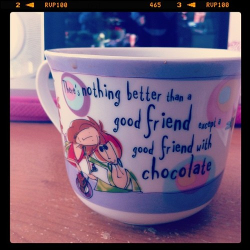 #coffee #mug #bowl #friends #chocolate (Taken with Instagram)