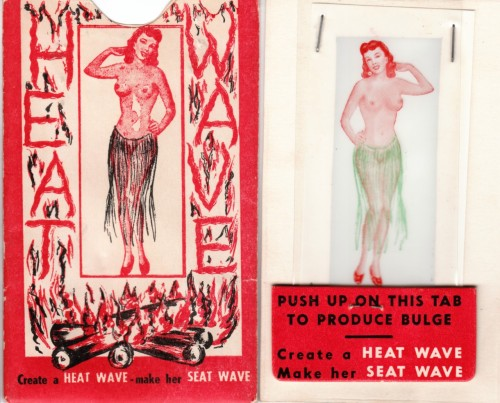 We're Having a Heat Wave, Make Her Seat Wave! Vintage Risque Novelty circa 1940 Collection Victor Minx FOLLOW VINTAGE SLEAZE THE BLOG on FACEBOOK
