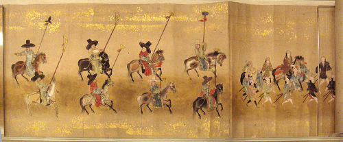"Korean Embassy to Japan, 1655, attributed to Kano Toun Yasunobu.The Joseon Tongsinsa were goodwill missions sent intermittently, at the request of the resident Japanese authority, by Joseon Dynasty Korea to Japan. The Korean noun identifies a specific type of diplomatic delegation and its chief envoys. From the Joseon diplomatic perspective, the formal description of a mission as a tongsinsa signified that relations were largely ""normalized,"" as opposed to missions that were not called tonginsa."